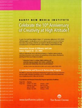 """Celebrate the 10th Anniversary of Creativity at High Altitude"" : [flyer]"