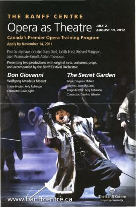 Opera as Theatre : Canada's Premiere Opera Training program
