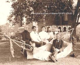 Hammond family in front of their home in Sheridan, Ontario