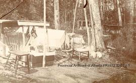First Nations burial structures at Shoal Lake, Ontario