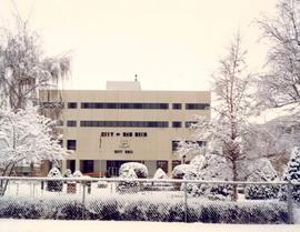 Red Deer City Hall in winter
