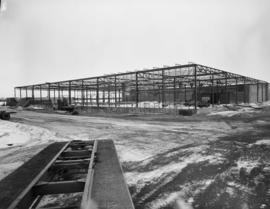 Construction at the Chrysler plant, Red Deer