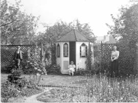 The Sleath family in their garden