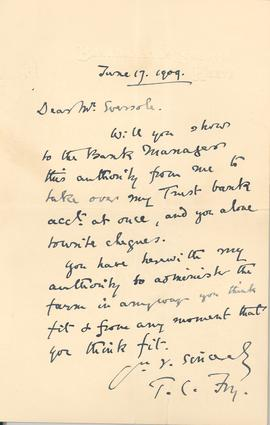 Letter from T.C. Fry