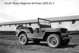 Alaska Highway Crew Jeep and Barracks, Ft. St. John