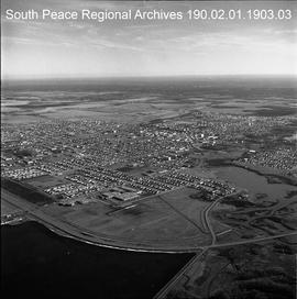 Aerial of City, Grande Prairie, Alberta.