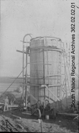 First silo in the Peace River region