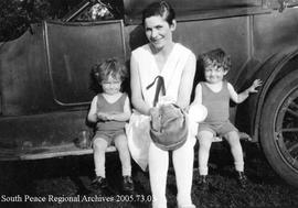 Bessent Twins (2 yrs old) with Mother Elsie