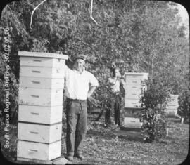 Foster and Crossley with hives