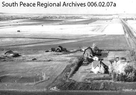 Aerial of Pierre Lozeron Farmstead