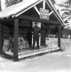 Francis Schenk at Sherman Meadows Cabin