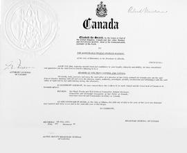 Member of the Privy Council certificate