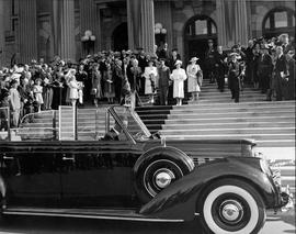 Royal visit of King George VI and Queen Elizabeth, Edmonton, Alberta.