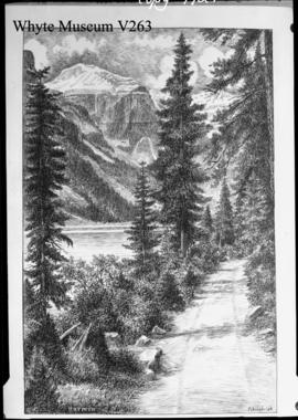 Mt. Lefroy, drawing by Fitzpatrick