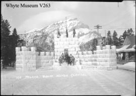 Banff Winter Carnival, ice palace on Banff Avenue