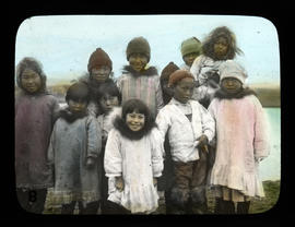 Group of Eskimo children.  Nome Alaska