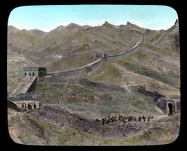 Westward along the Great Wall from Nankow Pass.