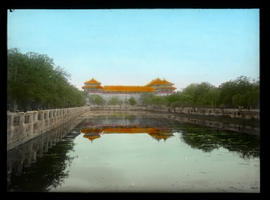 Forbidden City with reflection