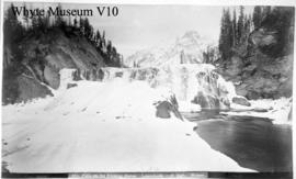 681. Falls on the Kicking Horse, Leanchoile, 103 ft. high, Winter
