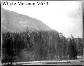Banff Hotel from the wagon road below the falls (No.23). 7/5/94