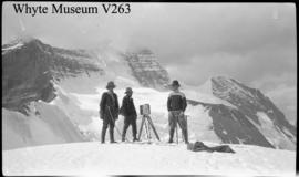 Climbers with camera, Robson : [Mount Robson]