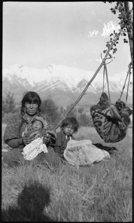 [Stoney Indian mother and children]