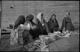 Native women selling handicrafts