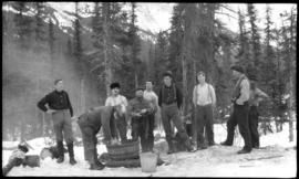 Eau Claire logging crew washing up