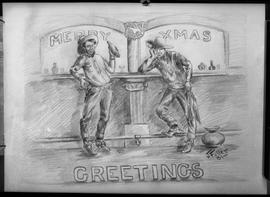 Miscellaneous - Xmas cards, trophies, cemetery, Charlie Beil sculptures.