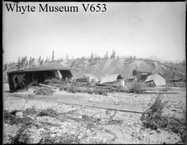 Wrecked houses at Anthracite. 1894