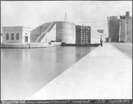 Canada. The Welland Ship Canal. General view of the lower entrance, Lock No. 1, looking south / CN192
