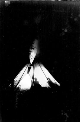 Icefield trip, teepee night shot