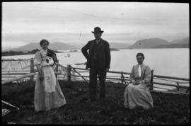 Man and women, Alaska coast