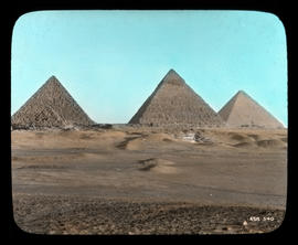 Cairo- The Pyramids of Gizeh, Egypt.