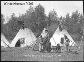 Stoney Indian camp