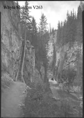 Johnston Canyon, trail scenes