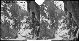 Canyon in winter, stereo