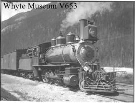 95 ton locomotive at Field, used to haul trains up Upper Kicking Horse Pass (No.63). 7/ /94